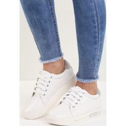 Buty sportowe damskie: Białe-Srebrne Buty Sportowe Super Game