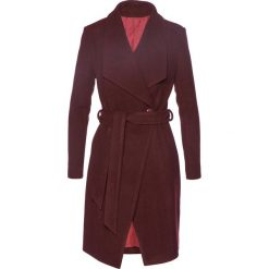 Płaszcz żakietowy z domieszką wełny bonprix czerwony klonowy. Czerwone płaszcze damskie wełniane bonprix. Za 179,99 zł.