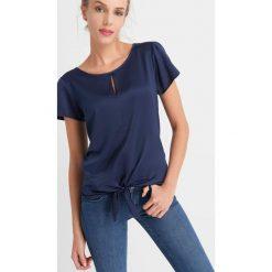 T-shirty damskie: Koszulka z wiązaniem