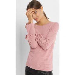 Sweter z fakturą i wiązaniem. Czarne swetry klasyczne damskie marki Orsay, xs, z bawełny, z dekoltem na plecach. Za 79,99 zł.