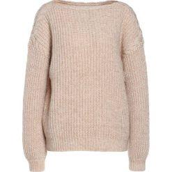 Swetry klasyczne damskie: Bruuns Bazaar JOHANNE  Sweter rose beige