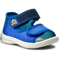 Sandały męskie skórzane: Sandały SUPERFIT – 0-00294-84 Bluet