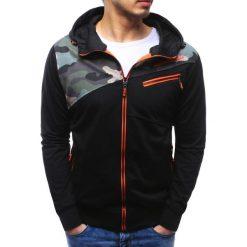 Bluzy męskie: Bluza męska rozpinana z kapturem czarna (bx3482)