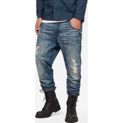 G-Star Raw - Jeansy Arc. Niebieskie jeansy męskie z dziurami marki G-Star RAW. W wyprzedaży za 449,90 zł.