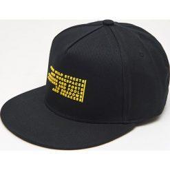 Czapki męskie: Czapka full cap z napisami - Żółty