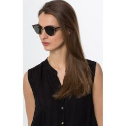 RayBan CLUBROUND Okulary przeciwsłoneczne brown/green. Brązowe okulary przeciwsłoneczne damskie aviatory Ray-Ban. Za 599,00 zł.