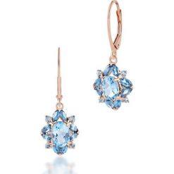 Kolczyki damskie: Unikalne Kolczyki Srebrne – srebro 925, Topaz swiss blue…