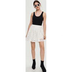 Spódniczki: Koronkowa spódnica - Kremowy