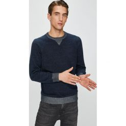 Pepe Jeans - Sweter. Niebieskie swetry klasyczne męskie marki Pepe Jeans. Za 279,90 zł.