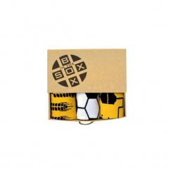 Box dla Fana Piłki Nożnej- Skarpetki. Brązowe skarpetogetry piłkarskie Sox in the box, z bawełny. Za 80,00 zł.