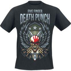 T-shirty męskie: Five Finger Death Punch Wing Shield T-Shirt czarny