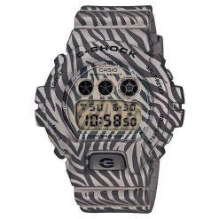 Zegarek Casio Męski DW-6900ZB-8ER G-Shock Zebra Camouflage. Szare zegarki męskie CASIO. Za 464,00 zł.