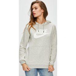 Nike Sportswear - Bluza. Szare bluzy rozpinane damskie Nike Sportswear, l, z nadrukiem, z bawełny, z kapturem. Za 239,90 zł.