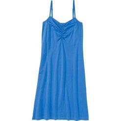Koszula nocna na cienkich ramiączkach. bonprix lodowy niebieski. Niebieskie koszule nocne i halki marki QUECHUA, z elastanu. Za 34,99 zł.