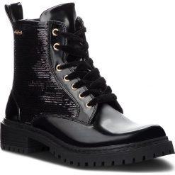 Trapery PEPE JEANS - Collie Sequins PLS50340 Black 999. Czarne buty zimowe damskie Pepe Jeans, z jeansu. Za 379,00 zł.