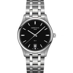 PROMOCJA ZEGAREK CERTINA GENT QUARTZ COLLECTION C022.610.11.051.00. Czarne zegarki męskie marki CERTINA, ze stali. W wyprzedaży za 1381,60 zł.