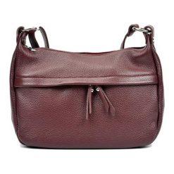 Torebki klasyczne damskie: Skórzana torebka w kolorze bordowym – (S)22 x (W)36 x (G)12 cm