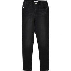 Dżinsy slim z wysokim stanem 10-16 lat. Czarne spodnie chłopięce La Redoute Collections, z bawełny, z podwyższonym stanem. Za 126,38 zł.