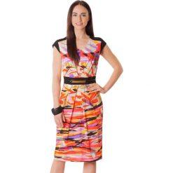 Sukienki hiszpanki: Sukienka w kolorze pomarańczowo-fioletowym