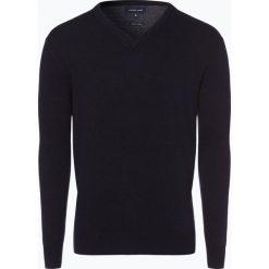 Swetry klasyczne męskie: Andrew James – Sweter męski z dodatkiem kaszmiru, niebieski