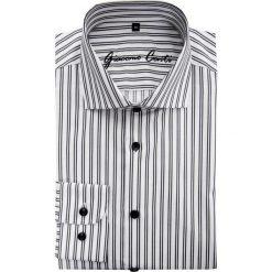 Koszula RICCARDO 15-05-28-K. Szare koszule męskie marki S.Oliver, l, z bawełny, z włoskim kołnierzykiem, z długim rękawem. Za 229,00 zł.