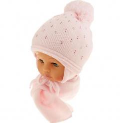 Czapka dziecięca z szalikiem CZ+S 129C. Szare czapeczki niemowlęce Proman. Za 42,82 zł.