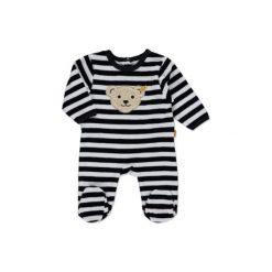 Steiff  Baby Nicki Śpioszki paski marine - niebieski. Niebieskie pajacyki niemowlęce Steiff, z bawełny. Za 92,00 zł.