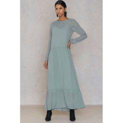 Długie sukienki: Second Female Sukienka maxi Maja - Green
