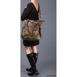 AMBER - duża torba - shopper - moro. Żółte shopper bag damskie Pakamera, moro, z tkaniny, na ramię, duże. Za 151,00 zł.
