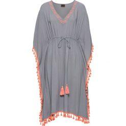 Sukienki: Sukienka z ozdobną tasiemką bonprix szaro-łososiowy