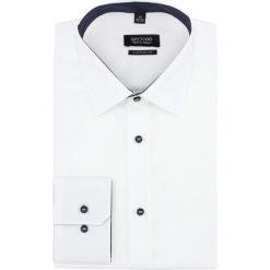 Koszula bexley 2032/1 długi rękaw custom fit biały. Białe koszule męskie na spinki Recman, m, z długim rękawem. Za 139,00 zł.