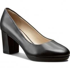 Półbuty CLARKS - Kelda Hope 261235544 Black Leather. Czarne creepersy damskie Clarks, z materiału, eleganckie, na obcasie. W wyprzedaży za 269,00 zł.
