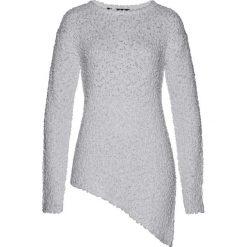 Swetry klasyczne damskie: Sweter z asymetryczną linią dołu bonprix jasnozielony