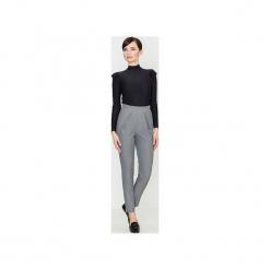 Spodnie K397 Szary. Szare spodnie z wysokim stanem marki Lenitif, l. Za 129,00 zł.