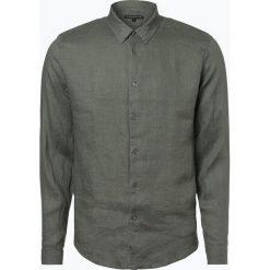 Drykorn - Męska koszula lniana – Ruben, zielony. Zielone koszule męskie na spinki marki QUECHUA, m, z elastanu. Za 449,95 zł.