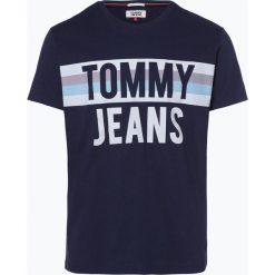 Tommy Jeans - T-shirt męski, niebieski. Niebieskie t-shirty męskie z nadrukiem Tommy Jeans, m, z jeansu. Za 129,95 zł.