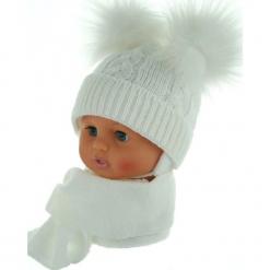 Czapka niemowlęca z szalikiem CZ+S 016B. Szare czapeczki niemowlęce Proman. Za 47,14 zł.