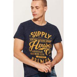 T-shirt Granatowy. Niebieskie t-shirty męskie House, l. Za 25,99 zł.