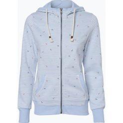 Bluzy damskie: Marie Lund - Damska bluza rozpinana, niebieski