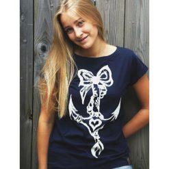 Bluzki asymetryczne: Koszulka Kotwica Granatowa