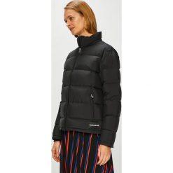 Calvin Klein Jeans - Kurtka puchowa. Czarne bomberki damskie Calvin Klein Jeans, l, z jeansu. Za 999,90 zł.