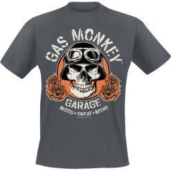 T-shirty męskie: Gas Monkey Garage Skull T-Shirt odcienie ciemnoszarego