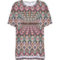 Colour Pleasure Koszulka damska CP-033 263 fioletowo-zielona r. uniwersalny. Fioletowe bluzki damskie marki Colour pleasure, uniwersalny. Za 76,57 zł.
