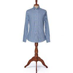 Koszula w Kratę Square. Niebieskie koszule męskie na spinki LANCERTO, na zimę, m, w kratkę, z bawełny, button down. W wyprzedaży za 249,00 zł.