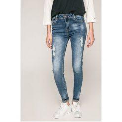 Haily's - Jeansy. Niebieskie jeansy damskie rurki marki Haily's, z bawełny, z podwyższonym stanem. W wyprzedaży za 89,90 zł.