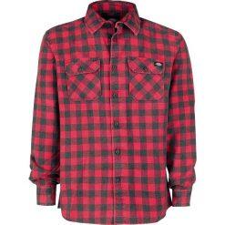 Dickies Rock Hall Koszula czerwony/czarmy. Szare koszule męskie na spinki marki Dickies, na zimę, z dzianiny. Za 144,90 zł.