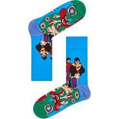 Skarpety Happy Socks x The Beatles 50th Anniversary (BEA01-7000). Niebieskie skarpetki męskie Happy Socks, z bawełny. Za 39,99 zł.