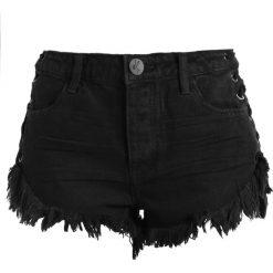 Bermudy damskie: One Teaspoon BRANDOS RELAXED FIT Szorty jeansowe black oak