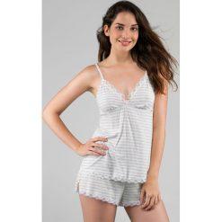 Piżamy damskie: Piżama na lato z modalu, koronka, Romy