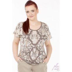 T-shirty damskie: T-shirt z wężowym printem Plus